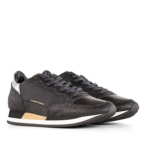 Philippe Model Women's CHLDGV02 Black Leather Sneakers discount cheapest price for sale very cheap classic cheap online free shipping shopping online sale discounts NQHGc8UE