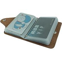 MuLier Soft Leather Case Wallet Bag Holder for 26 Credit Cards Black