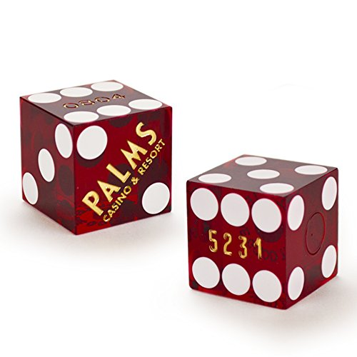 Pair (2) of Official 19mm Casino Dice Used at the Palms Casino by Brybelly by Brybelly