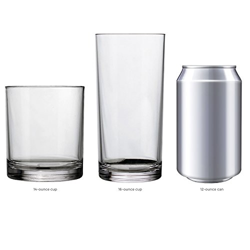 8-Piece Classic SAN Clear Plastic Tumblers | four 14-ounce and four 16-ounce by US Acrylic (Image #4)