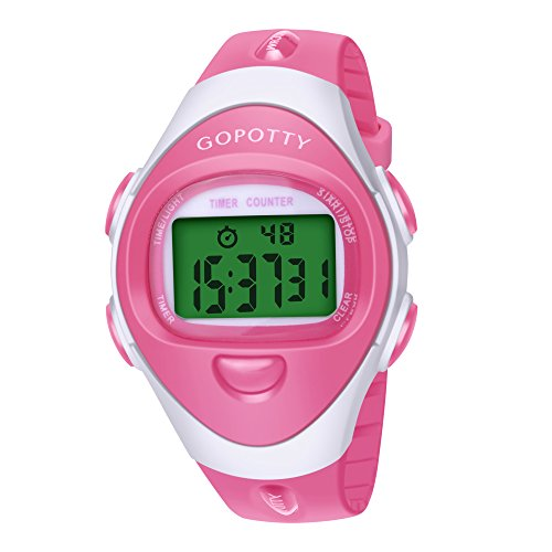 Potty Watch Water Resistant Baby Potty Training Watch Timer for Toddler (Pink)