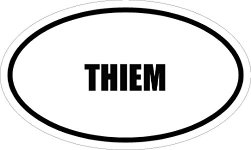 "6"" printed THIEM name oval Euro style Magnet for any metal surface"