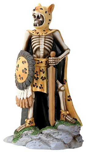 Day Of The Dead Skeleton Jaguar Warrior with Battle Gear Collectible