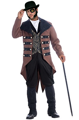 Men Costumes Steampunk (Adult's Mens Steampunk Jack Gentleman Costume Plus Size X-Large)