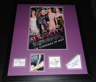 (Sex & The City Cast Signed Framed 20x24 Poster Photo)