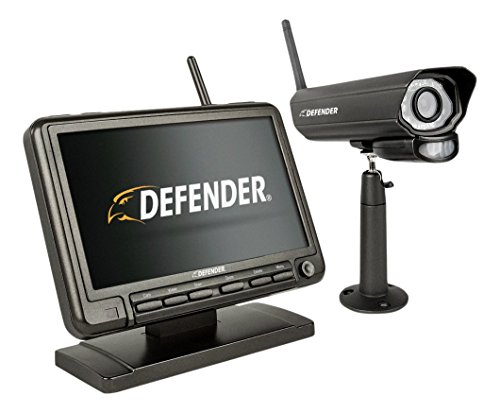 (Defender PhoenixM2 Wireless Security System with 7`Monitor and Night Vision Camera)