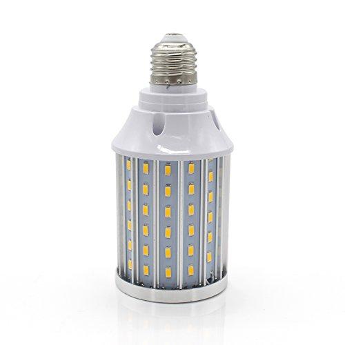 Mininono High Power LED Bulb 25W Aluminum High Power Corn Light Bulb, 108LEDs 200W Halogen Bulbs Replacement, Warm White 3000K Medium Edison E26/E27 Base Super Bright LED Lamp by Mininono (Image #4)
