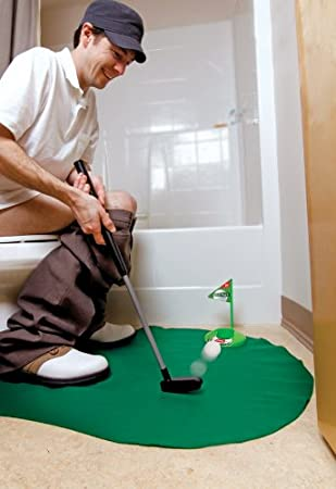 POT Nu0027 PUTT   7 PIECE BATHROOM PUTTING GAME