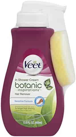 Veet Botanic Inspirations In Shower Cream, 13.5 fl Oz., for Legs & Body