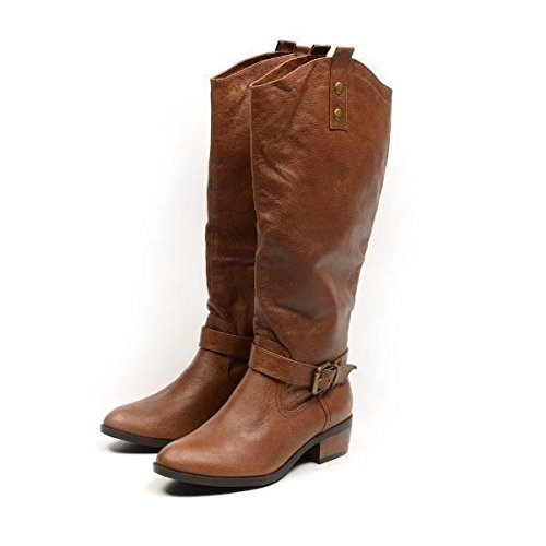 Buckle Detail LAUNDRY Leather Brown CHINESE Boots 10XwZqdnII