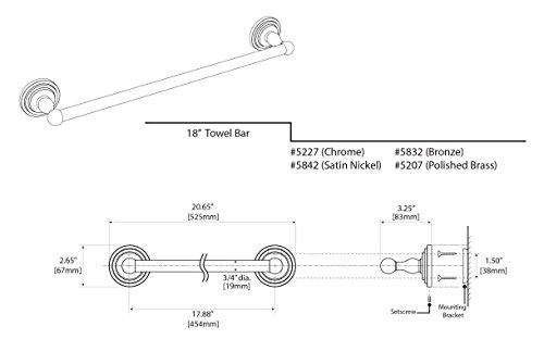 Gatco 5842 Marina 18'' Towel Bar, Satin Nickel by Gatco (Image #3)