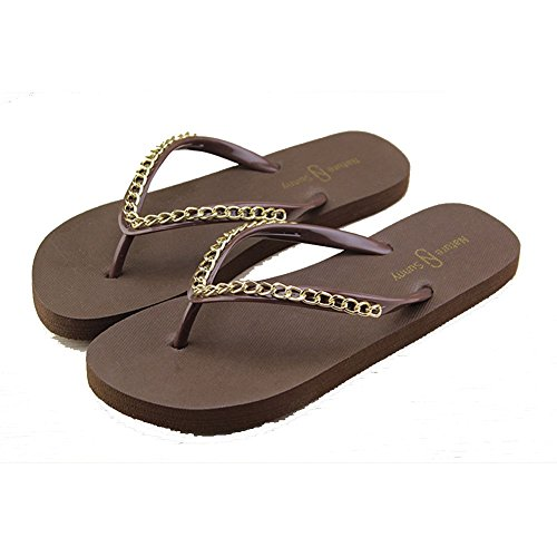 Sandalias de Zapatos Toe Chancletas verano Post Myhope Playa EpYqWT
