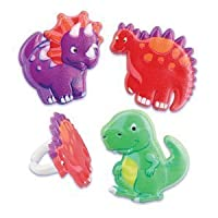 Dinosaur Cupcake Rings (1-Pack of 24)