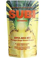 Subi | Best Green Superfood – Pineapple Mango | Raw Ingredients: Matcha, Kale, Barley Grass, Spirulina, Acai, Goji Berry + More | Morning Energy Booster | 40 Day Supply
