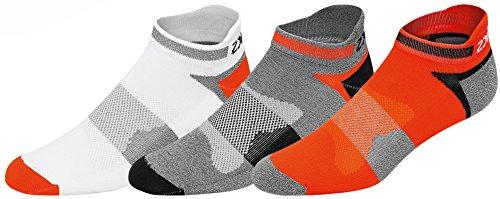 Asics Ankle Socks - ASICS Unisex Quick Lyte Cushion Single Tab Socks (3 Pairs), Cone Orange Assorted, X-Large