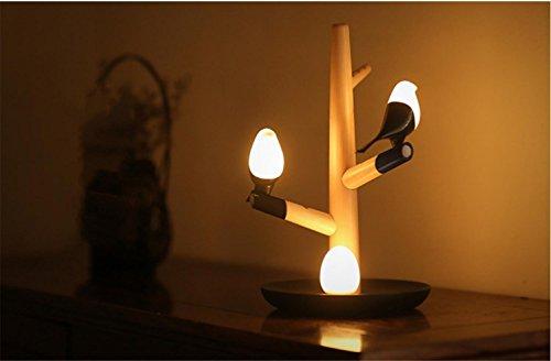 HAPPYMOOD Table Induction Lamp-Sense Light Christmas Gift Body Vibrative Induced Touch Sensor Bird Design Wall LED Decoration by HAPPYMOOD