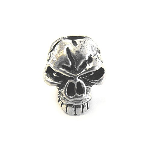 Schmuckatelli CO Emerson Skull Bead, Pewter,