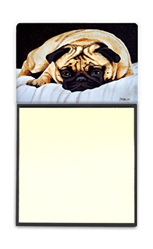 Caroline's Treasures Fred the Pug Sticky Note Holder, Multicolor (AMB1194SN) by Caroline's Treasures