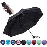 Goothdurs Travel Mini Umbrella - Compact Small Sun & Rain Windproof Umbrellas