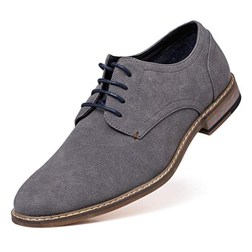 Jivana Men's Suede Oxford Dress Shoes Lace Up ()