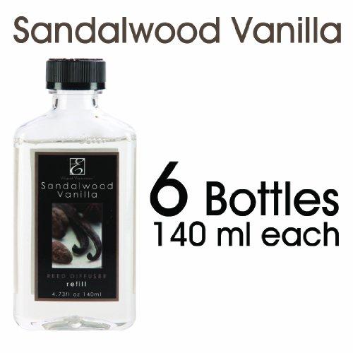 Elegant Expressions 140ml Sandalwood Vanilla Diffuser Oil - Set of 6 / 140ml Each