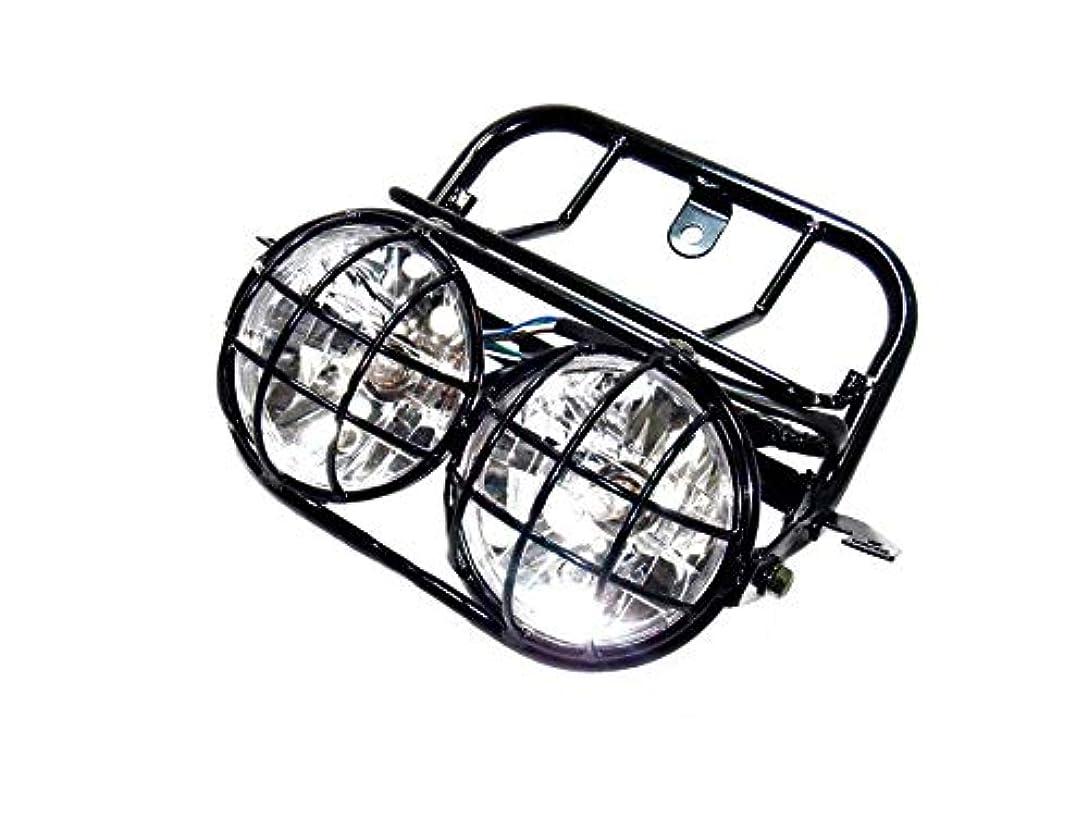 実装するつかの間被るTASWK CREE LEDモーターサイクルレトロブラッククリアレンズヘッドライト(ハレーボブカーカフェレーサークルーザーヴィンテージスタイル)