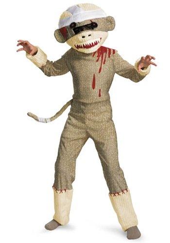 Sock Monkey Costumes (Disguise Zombie Sock Monkey Boys Costume, 10-12)