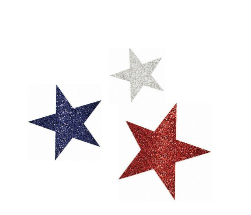 Shindigz Patriotic Glitter Cutouts (Assorted)]()