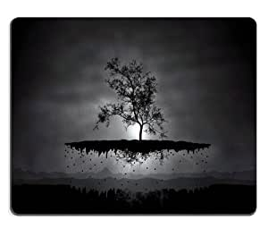 Nature Dark Tree Unearth Black Mouse Pads Customized Made to Order Support Ready 9 7/8 Inch (250mm) X 7 7/8 Inch (200mm) X 1/16 Inch (2mm) High Quality Eco Friendly Cloth with Neoprene Rubber MSD Mouse Pad Desktop Mousepad Laptop Mousepads Comfortable Computer Mouse Mat Cute Gaming Mouse_pad