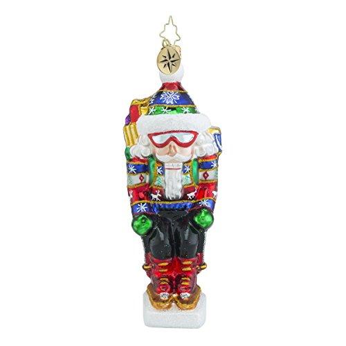 - Christopher Radko On the Slopes Nutcracker Glass Christmas Ornament - 6