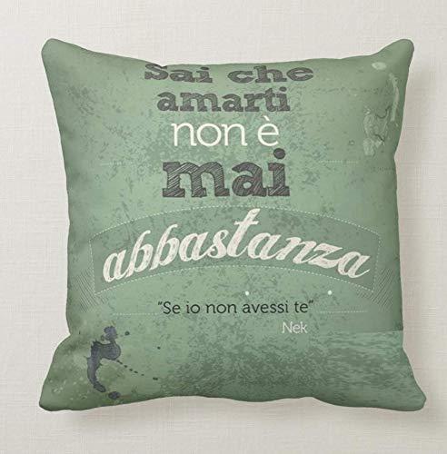 Pillow Pillow Cuscino Personalizzato 40x40 Frase Nek Canzone