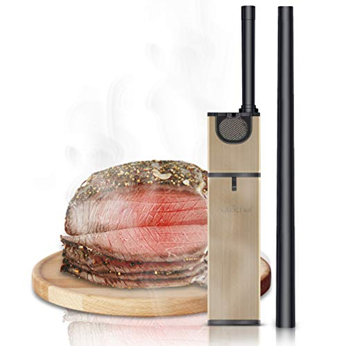 Portable Handheld Mini Food Smoker - Pro Hand Held Smoking Gun, Smoke Infuser Box Machine w/ Filter, Works w/ Wood Chips, Tea, Herbs, For BBQ, Meat, Veggies, Fruit, Cocktail Drink - PKSMKR25