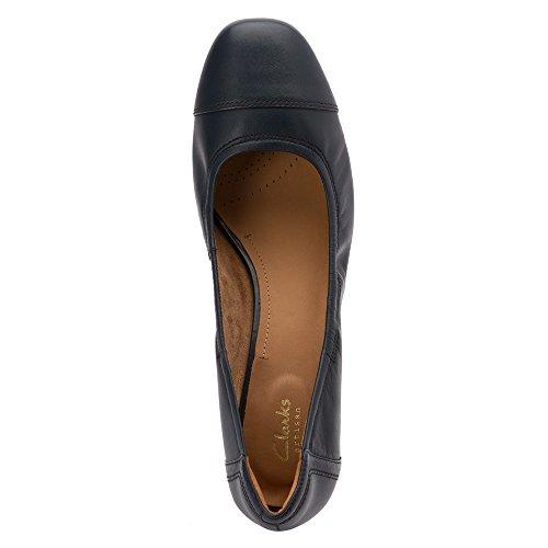 Clarks Kvinna Cala Dor Pumpar Skor Navy Läder