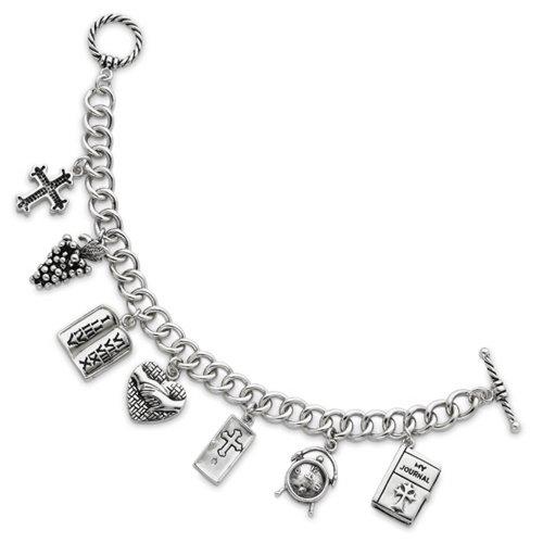 Icecarats Créatrice De Bijoux En Argent Sterling Prière Exaucée 7.5In Bracelet Médaillon Dans 7,5 Pouces