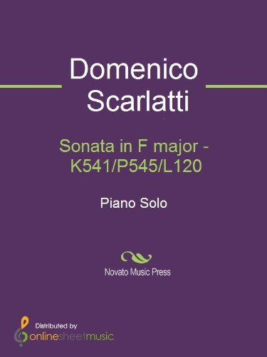 Sonata in F major - K541/P545/L120 for sale  Delivered anywhere in USA