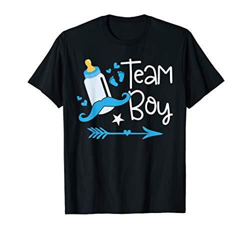 Team Boy Gender Reveal T-Shirt Baby Shower Announcement ()