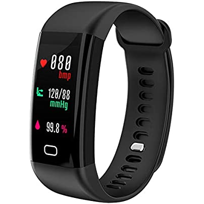 DGRTUY Swimming Fitness Tracker Blood Pressure Heart Rate Monitor Watch Sport Smart Bracelet Band Waterproof IP68 Wristband Estimated Price £34.06 -