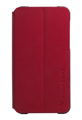 Blackberry Z10 Flip Shell - BlackBerry OEM Leather Flip Shell Pocket for BlackBerry Z10 - Red
