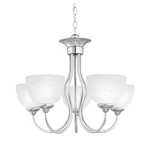 Thomas Lighting Sl8015-78 Tahoe Five-Light Chandelier, Brushed Nickel