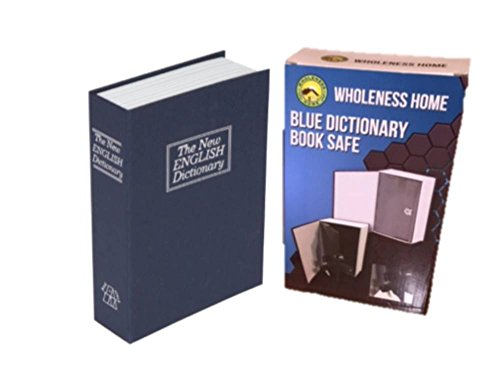 BLUE Large Diversion Dictionary Book Safe With Lock- Hidden Box in a Realistic Looking Book with Cloth-Like Cover and Strong Steel Interior - 2 Keys Included by Wholeness Home