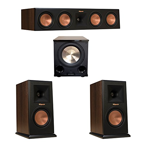 Klipsch 3.1 Walnut System with 2 RP-150M Monitor Speakers, 1