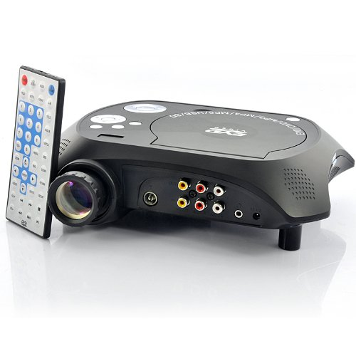 Multimedia LED Projector with Built-in DVD Player (USB/TV/AV IN, 20 Lumens) B07BL2BZWP