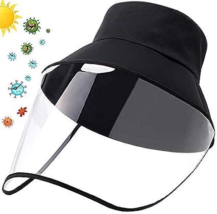 Visera Protectora para la Cara, Gorra de Visera para Cara de Seguridad de Protección, sombrero de Pescador Pantalla de Protección de Cara de PVC, Protección de Ojos Y Cabeza