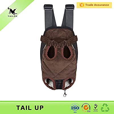 Pet dog legs out front carrier/bag with gift dog leash random