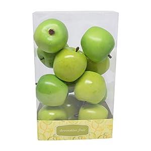 Florabunda 12-Piece Mini Decorative Fruit, Green Apple 102