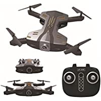 3D UFO RC Drone,Wifi FPV Quadcopter With HD 720P Camera, Helicopter Selfie Foldable Helicopter 6 Axis Gyro, [Easy to Fly for Beginner] (Black)