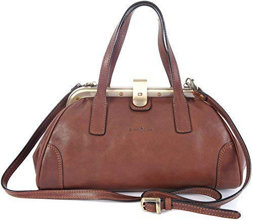 Gianni Conti Fine Italian Leather Dark Brown Gladstone Grab Shoulder Bag 913318