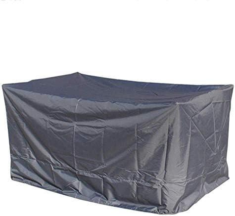 ファニチャー カバー 庭の藤の家具カバー屋外のちり止めの日焼け止めオックスフォードの生地 - 銀 シバオ (Color : Gray, Size : 242x162x100cm)