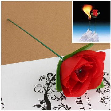Stage Close Up Magic Trick Torch To Rose Tricks Flame