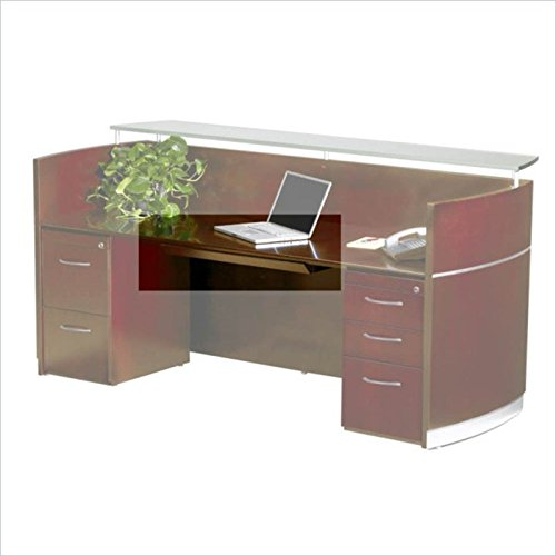 - Safco Products NCDCRY Napoli Desk, Sierra Cherry Veneer
